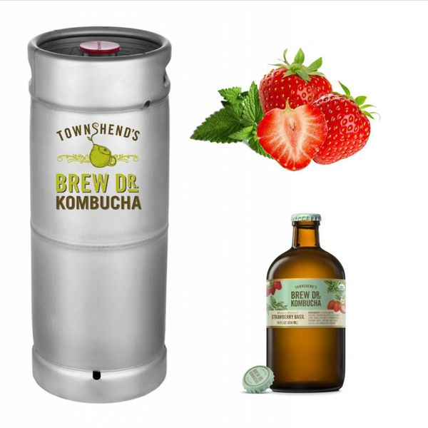 Brew Dr. Kombucha Brew Dr. Kombucha Strawberry Basil (5.5 GAL KEG)