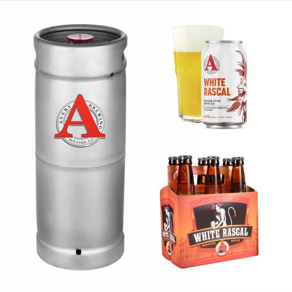 Avery Brewery Avery Brewing Co. White Rascal White Ale (5.5 GAL KEG)