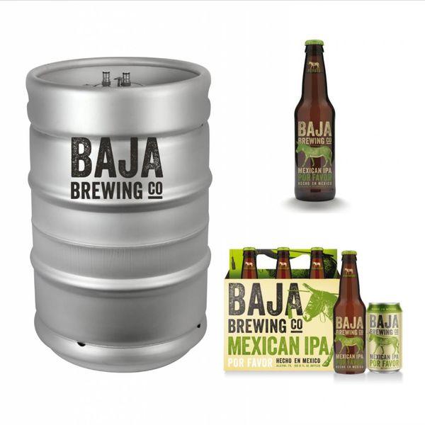 Baja Brewing Co. Por Favor Mexican IPA (15.5 GAL KEG)