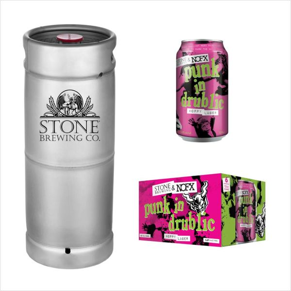 Stone Brewing Co. Stone Brewing and NOFX Punk in Drublic Hoppy Lager (5.5 GAL KEG)