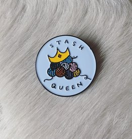 Spincycle Yarns Stash Queen Enamel Pin
