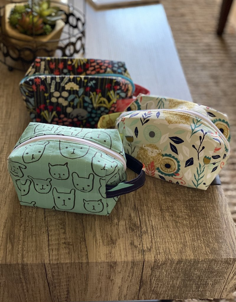 Joy In The Stitches Boxy Zipper Bag-Yellow Lion