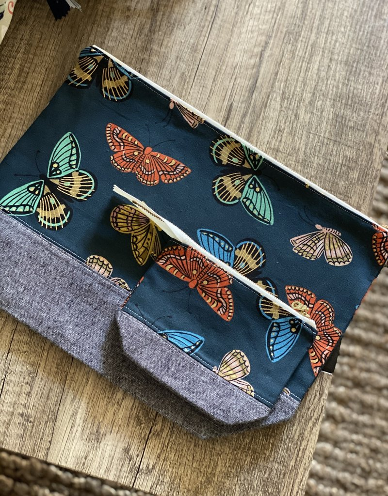 Joy In The Stitches Butterfly Zipper Project Bag Set