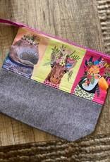 Large Zipper Bag: Wild Animals
