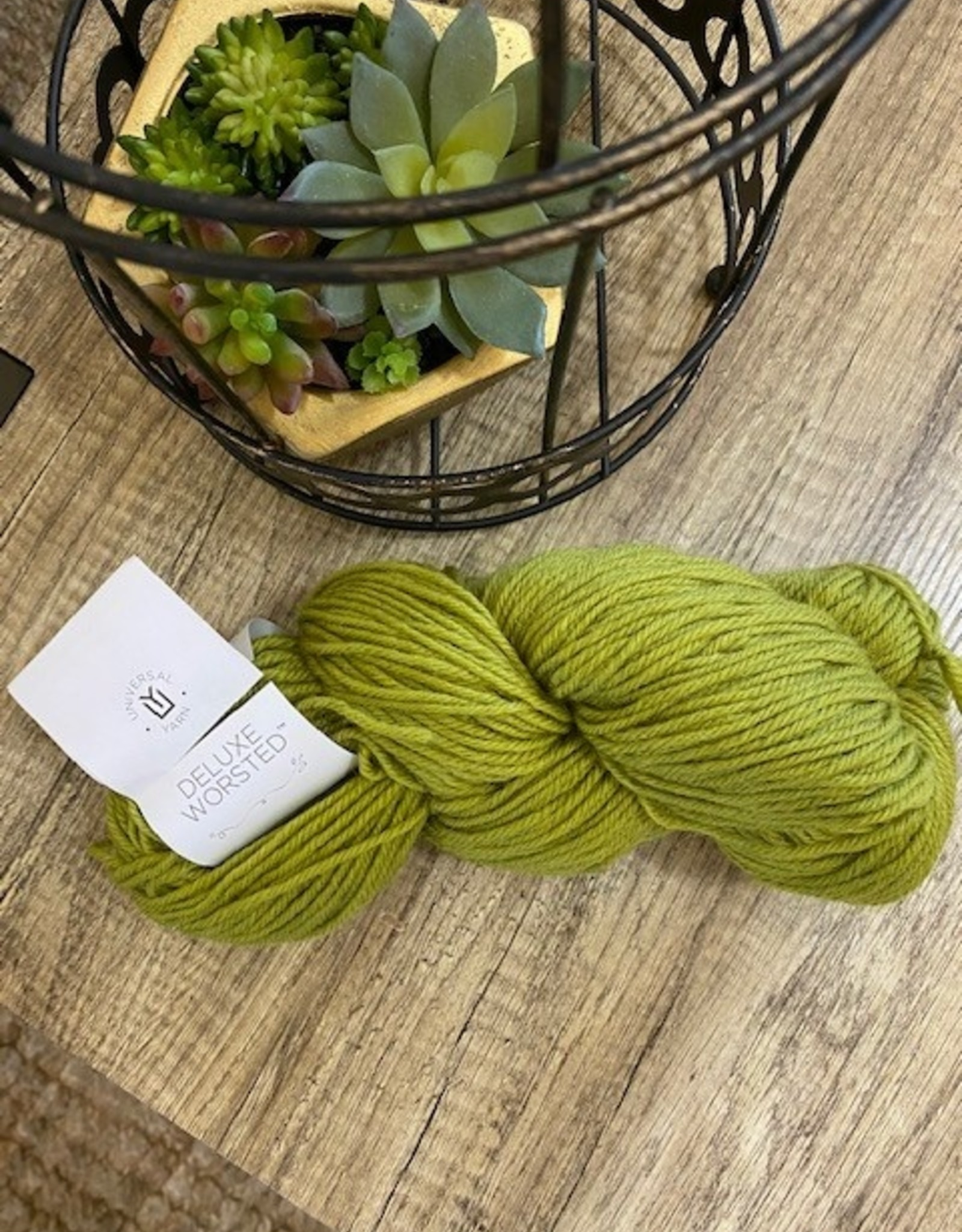 Universal Yarn Deluxe Worsted Chartreuse Olive