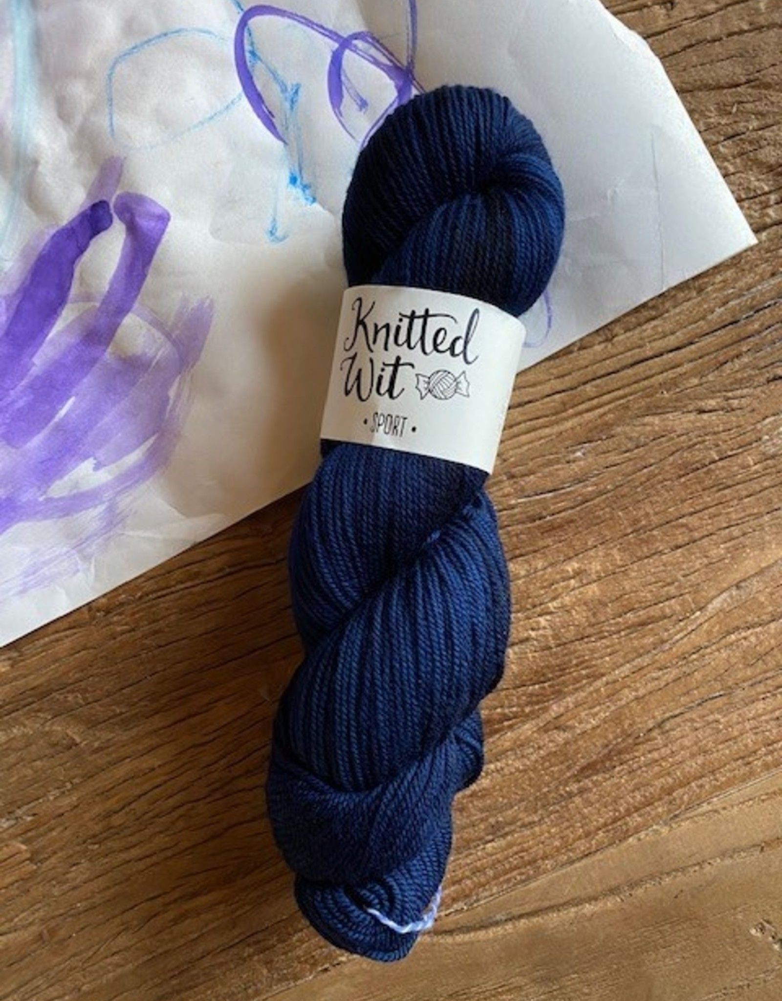 Knitted Wit Sport Prussian Blue