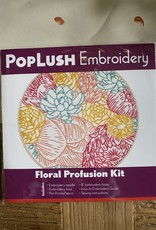 PopLush Embroidery Floral Profusion Embroidery Kit