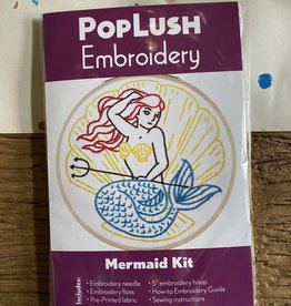 PopLush Embroidery Mermaid Embroidery Kit