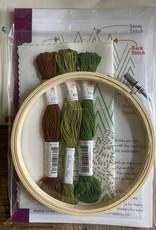 PopLush Embroidery Sasquatch Embroidery Kit