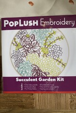 PopLush Embroidery Succulent Garden Embroidery Kit