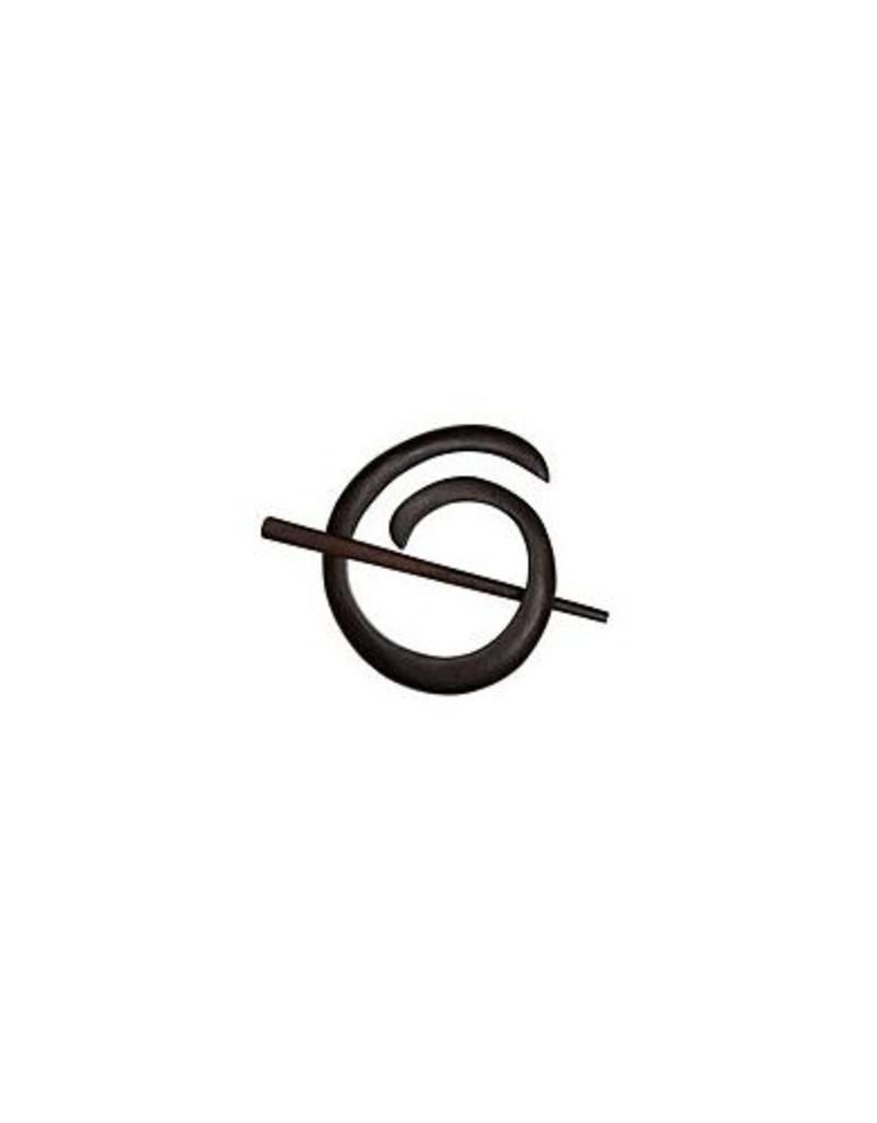 Ebony Spiral Shawl Pin