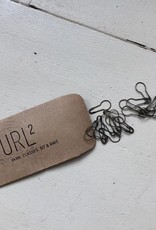 purl2 Removable Bulb Stitch Markers-Packet of 20, Antiqued Brass