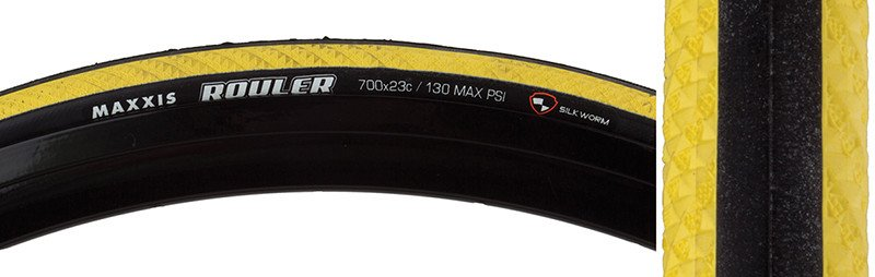 Maxxis TIRES MAX ROULER 700x23 YEL FOLD
