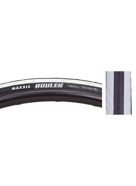 Maxxis TIRES MAX ROULER 700x23 WH FOLD/120 DC/S