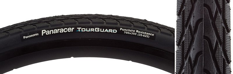 Panaracer TIRES PAN TOURGUARD 700x35 WIRE BK/BK