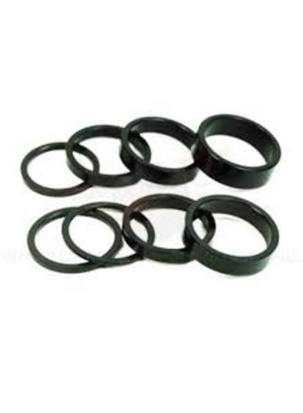 "Wheels Manufacturing Wheels Manufacturing Threadless Headset Spacer 1"" x 2.5mm 5/Bag Black"