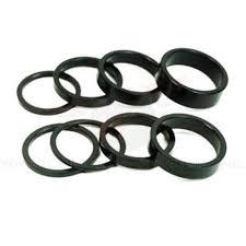 "Wheels Manufacturing Wheels Manufacturing Threadless Headset Spacer 1"" x 2.5mm 5/Bag Black"