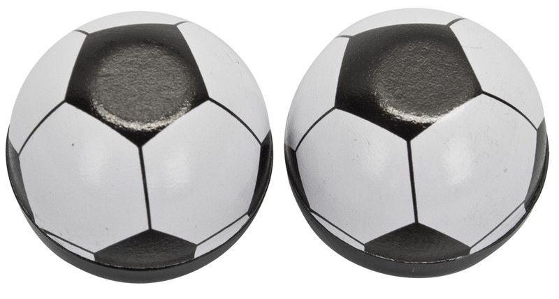TRIKTOPZ VALVE CAPS TRIKTOPZ SOCCER BALL BK 1pr/P