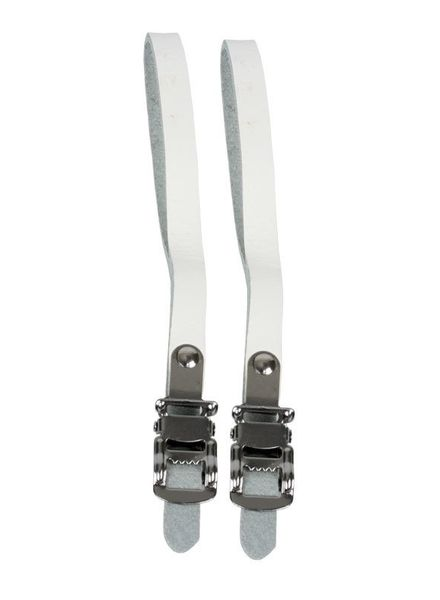SUNLITE TOE STRAPS SUNLT RD LEATHER WHT