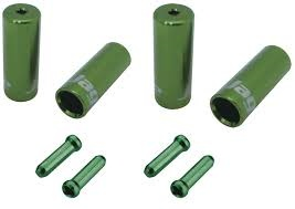 Jagwire Jagwire End Cap Hop-Up Kit 4mm Shift and 5mm Brake, Cash Green