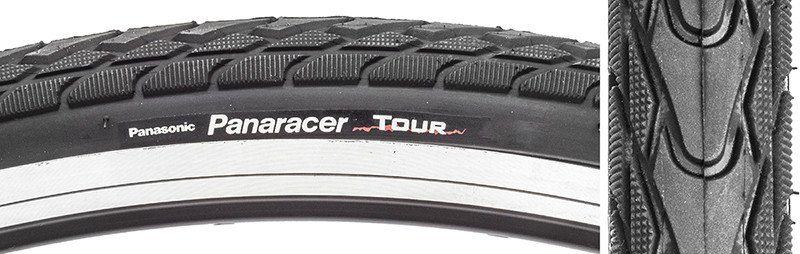 Panaracer TIRES PAN TOUR 700x28 WIRE BK/BK