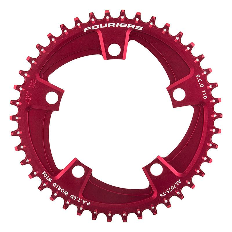 FOURIERS CHAINRING FOURIER 110mm 42T 5B RD