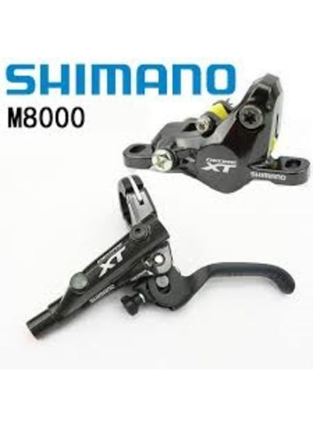 Shimano DISC-BRAKE SET, XT M8000 LEFT/FRONT, METAL W/FIN