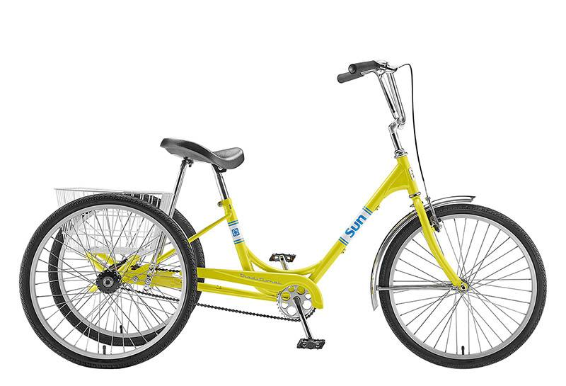SUN BICYCLES TRIKE ADULT 7 SPEED YELLOW