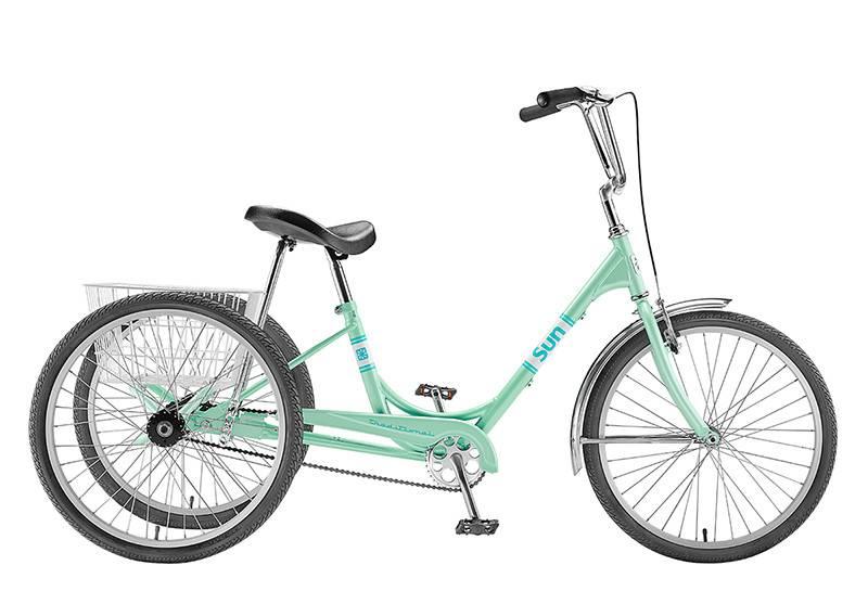 SUN BICYCLES TRIKE SUN ADULT P-MINT 24 ALY WHL*w/WHBASKET* (F)
