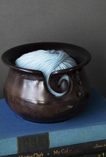 KnitPicks Bol laine bois courbe noir ou brun