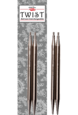 "ChiaoGoo Aiguilles interchangeable twist 5"" Chiaogoo acier inox 5"" 7505-75054"
