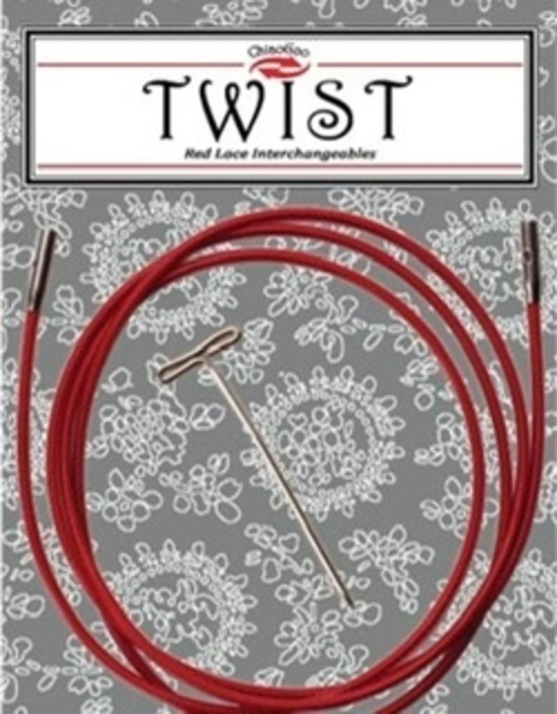 ChiaoGoo Cables Twist red small 30""