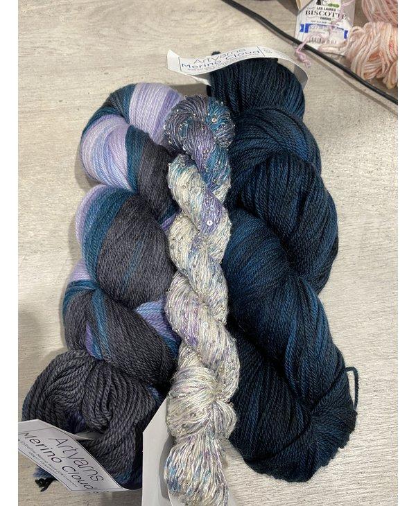 Color : L'heure Bleue à Sutton avec soie perlée