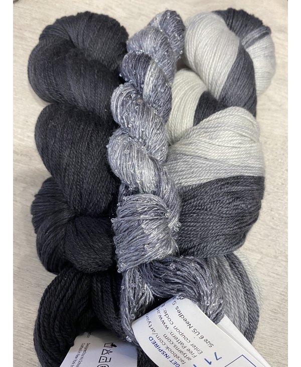 Color : Noir avec soie perlée