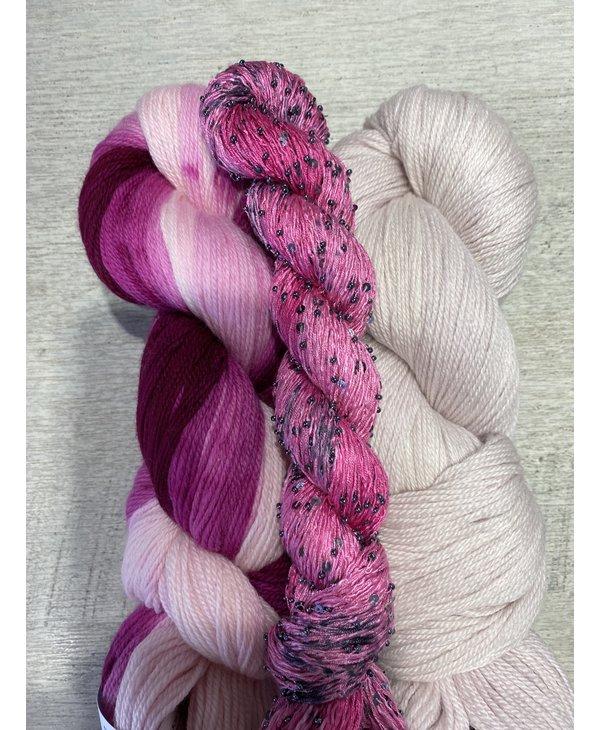Color : Ombre rose avec soie perlée