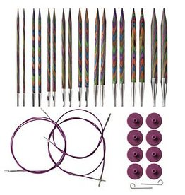 KnitPicks Ensemble aiguilles interchangeable Rainbow Wood 90306