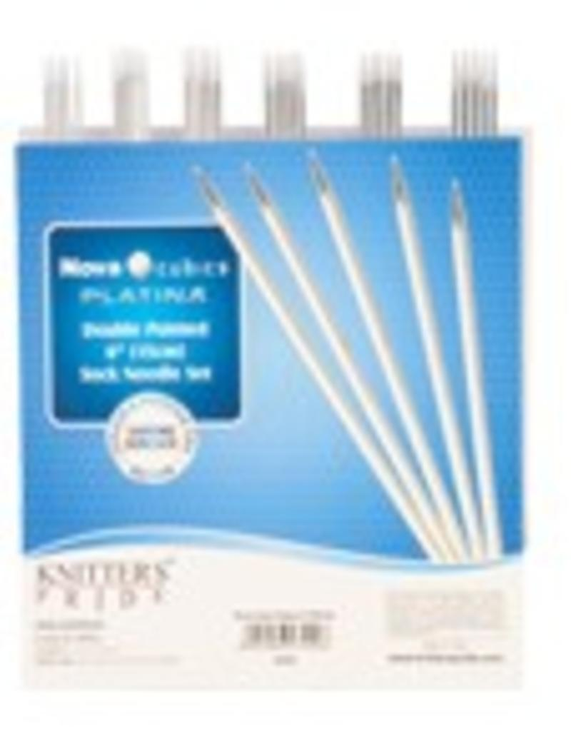 KNITTERS PRIDE Nova Cubics Platina - Double pointe-KP 32453