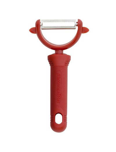 Messermeister Serrated Y Peeler  - Red