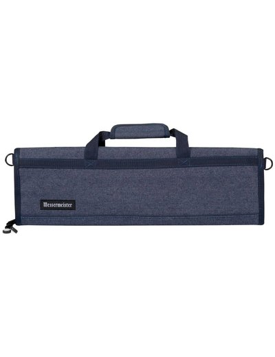Messermeister 8 Pocket Denim Knife Roll - Blue