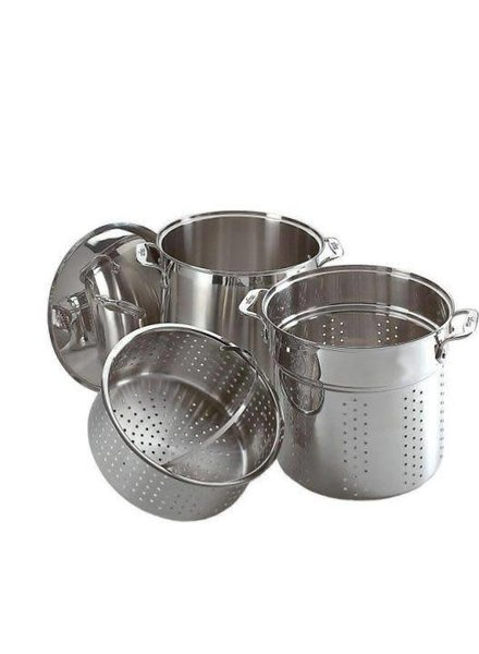 All-Clad Stainless Steel Multicooker With Inserts 12 QT