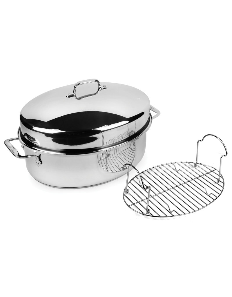 All-Clad Covered Oval Roaster w/Rack
