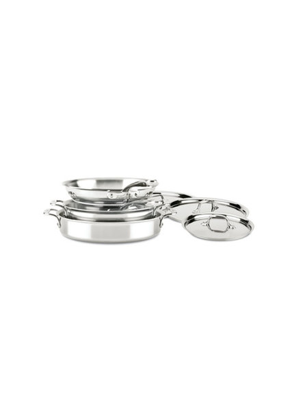 All-Clad D3 Compact Stainless Steel 7 Pc Set