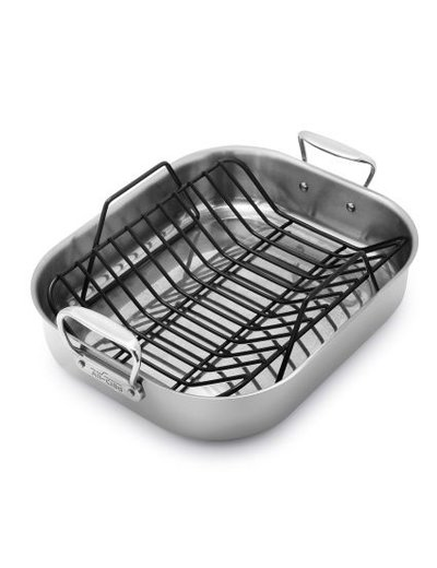 All-Clad Stainless Steel Large Roasting Pan w/ Rack