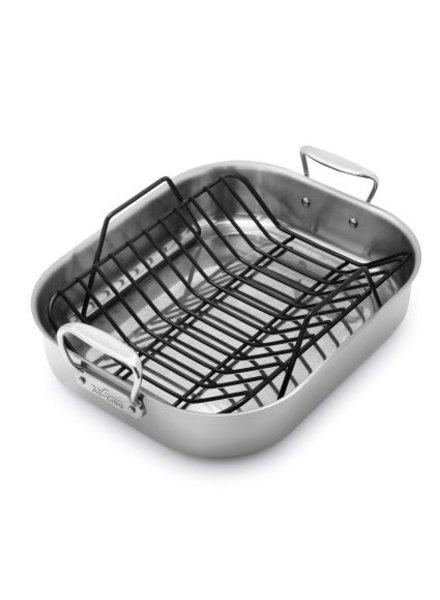 All-Clad Stainless Steel Large Roasting Pan w/ Rack