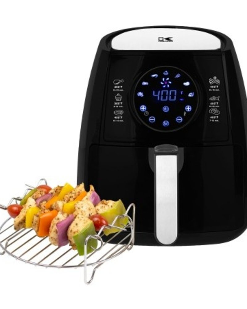 Kalorik Black Digital Airfryer w/ Dual Layer Rack