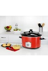 Kalorik Red 8 Qt Digital Slow Cooker w/ Locking Lid