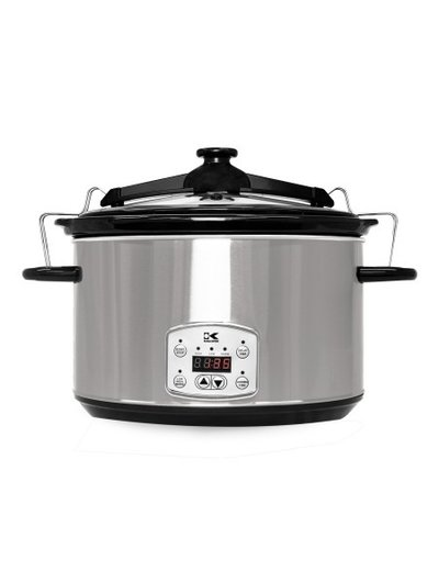 Kalorik S/S 8 qt Digital Slow Cooker w/ Locking Lid