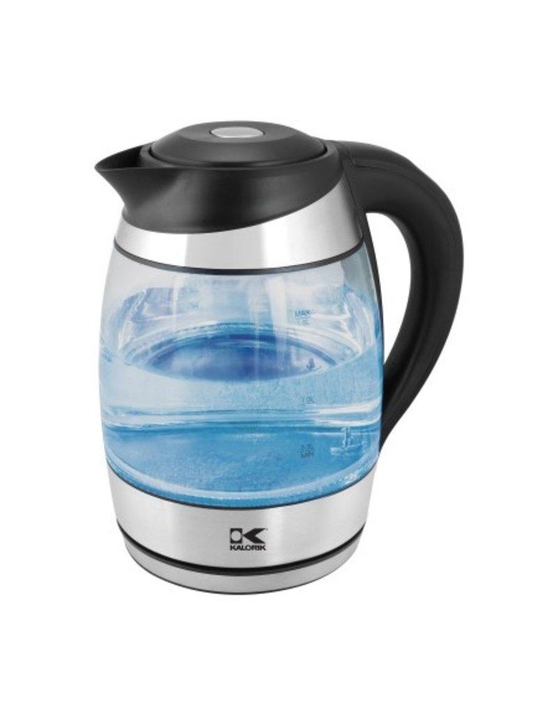 Kalorik Glass Digital Water Kettle w/ Color Changing LED Lights