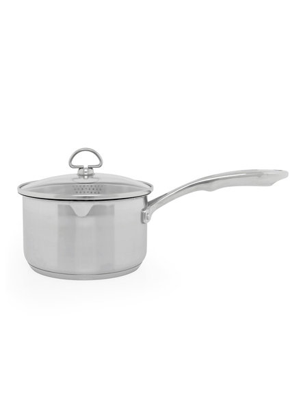 Chantal 2.5qt Pour-Spout Saucepan w/ Stainer Glass Lid