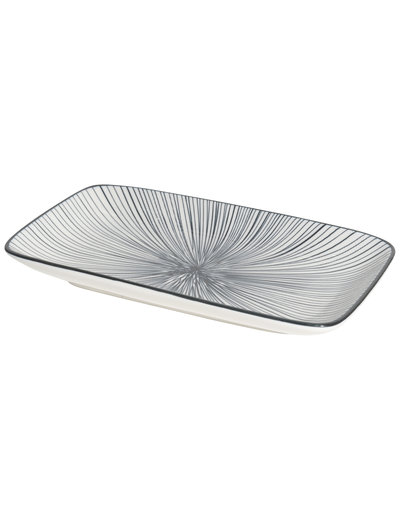 Now Designs Rectangular Plate Etched Lines IA